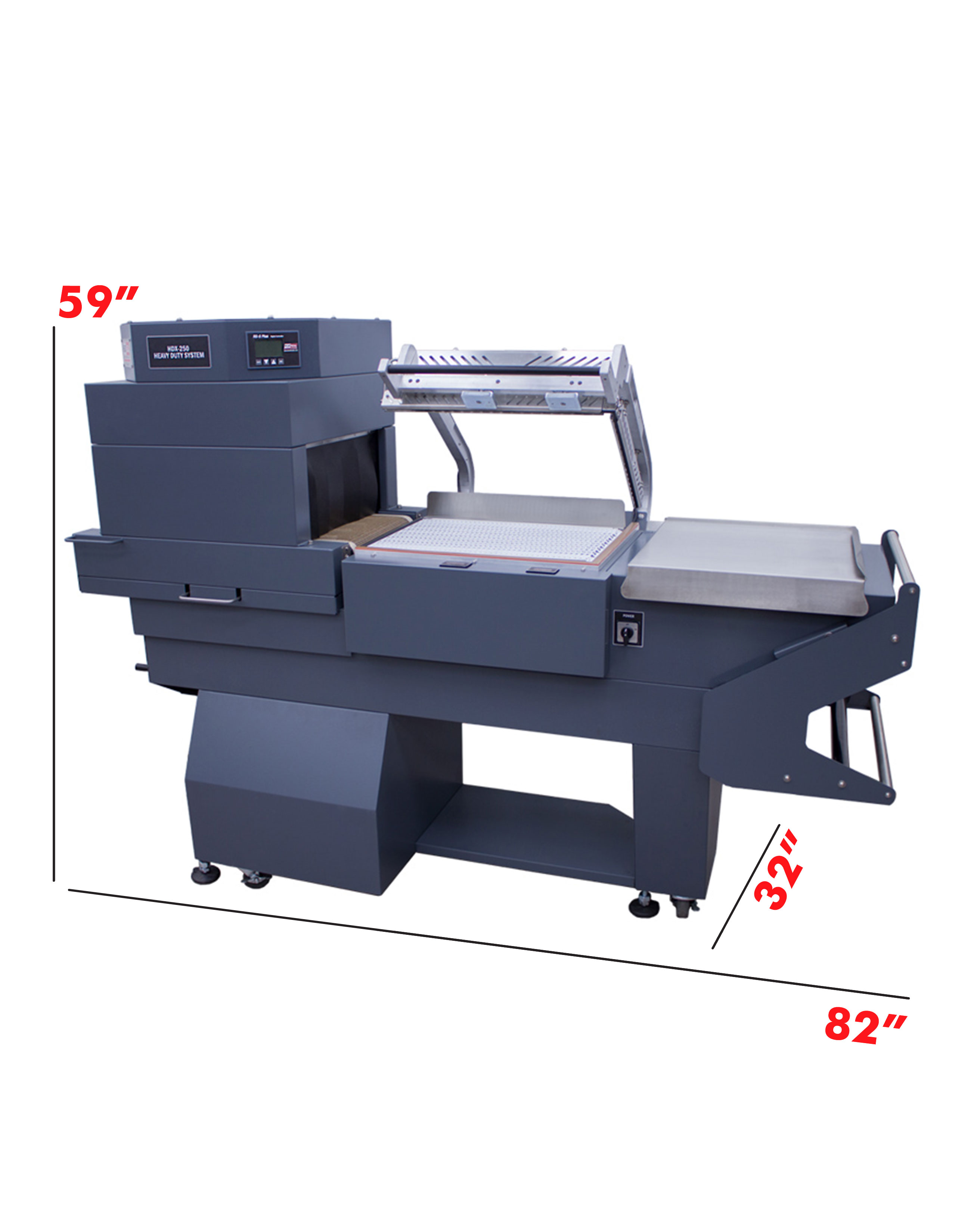 13 Inch L-Bar Sealer Dimensions