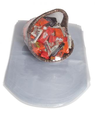 Gift basket heat shrink bags