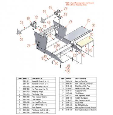 Meat Wrapping Machine Part Diagram