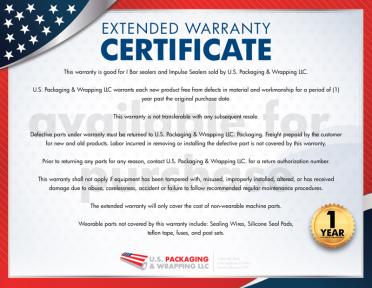 I Bar Sealer Extended Warranty
