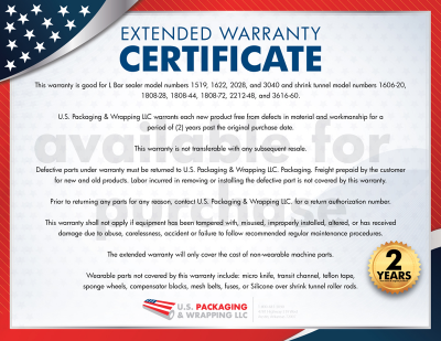 2-Year L Bar Sealer Extended Warranty