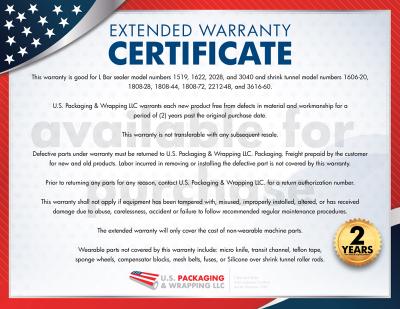 2-Year Extended Warranty Certificate