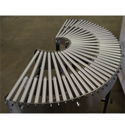180 Degree Gravity Conveyor Top View