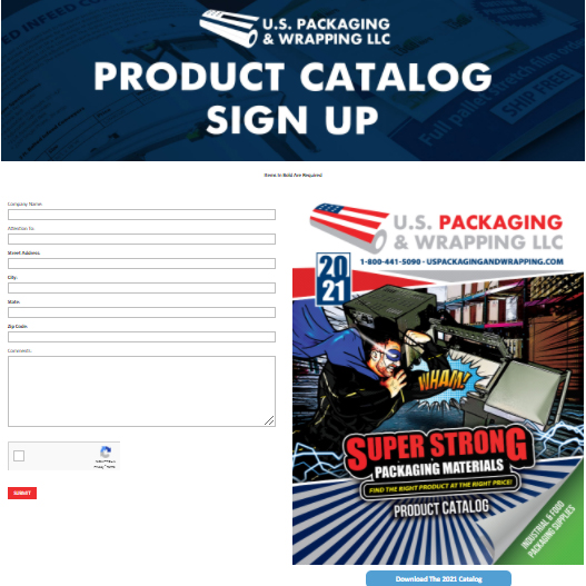 2021 US Packaging Product Catalog Sign Up