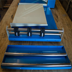 Used 2432 L Bar Sealer Film Rack