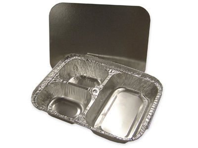 Three Compartment Aluminum Foil Container
