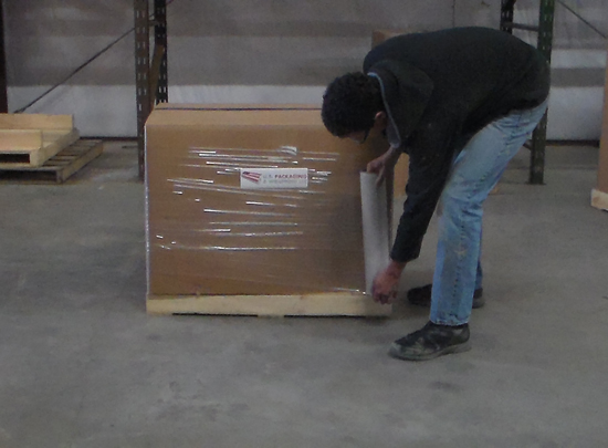 All day pallet wrapping