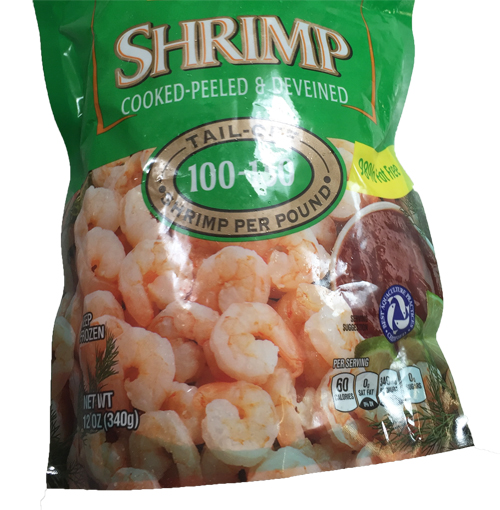 Packaged Frozen Shrimp