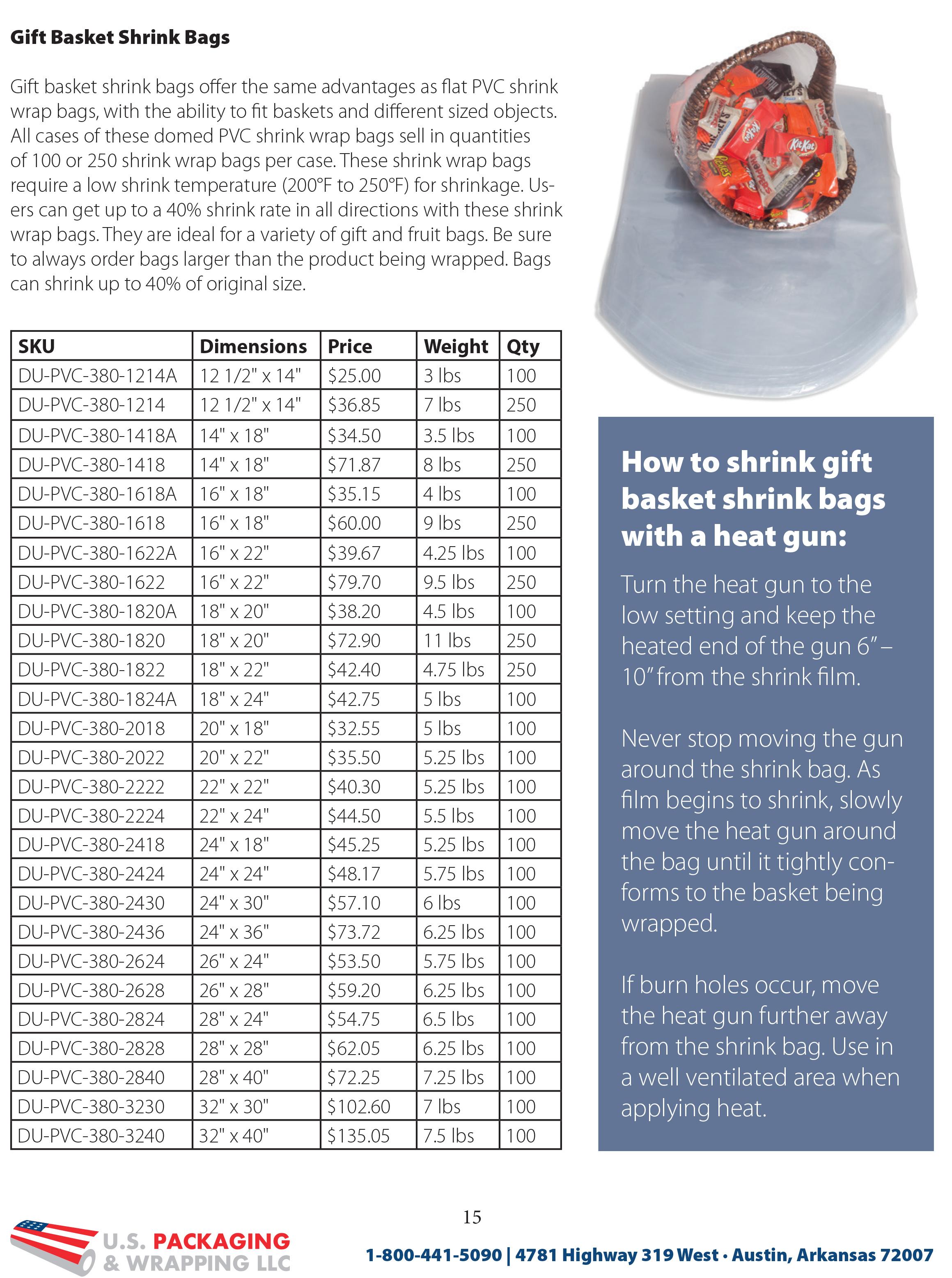 2019 U S  Packaging & Wrapping Product Catalog Sneak Peek