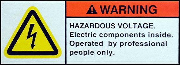 High Voltage Warning