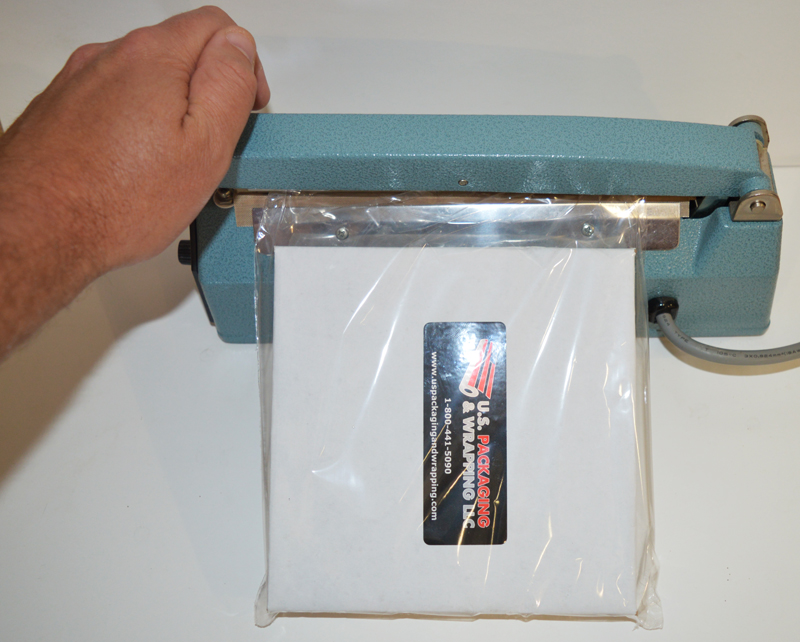 Sealing shrink wrapped product