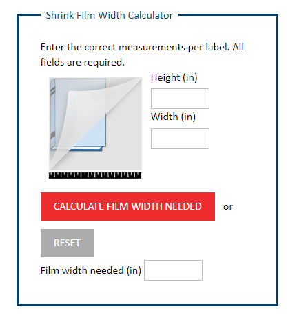 Shrink Film Calculator