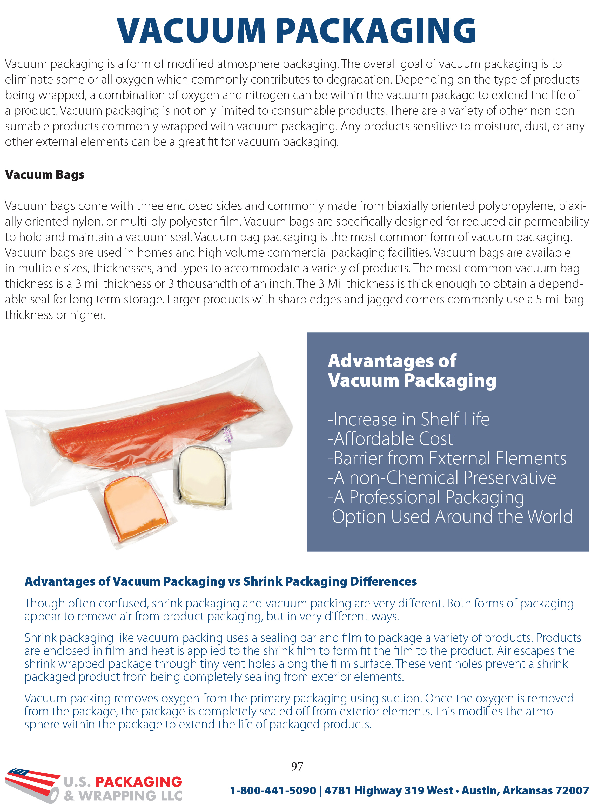 Vacuum Packaging Information